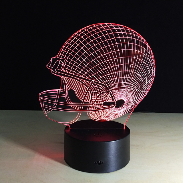 Упаковка из 40 шт. США футбол шлем кадр Сенсорный экран 3D иллюзия Светодиодная вспышка света игрушка.
