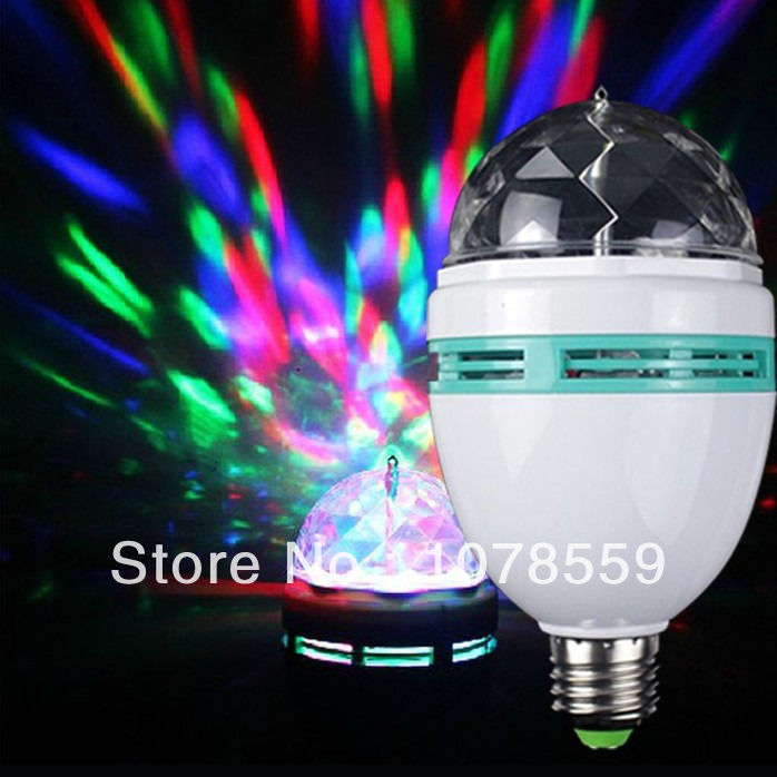 Новый светодиодный этапе Освещение хрустальный магический шар, свет диско E27 RGB Вращающаяся лампа для партии Дискотека DJ Бесплатная доставк...