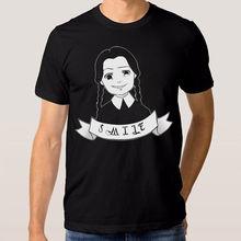 Cotton T Shirts Clothing Office Men O-Neck Short Sleeve Wednesday Addams Tee smukfest 2017 wednesday