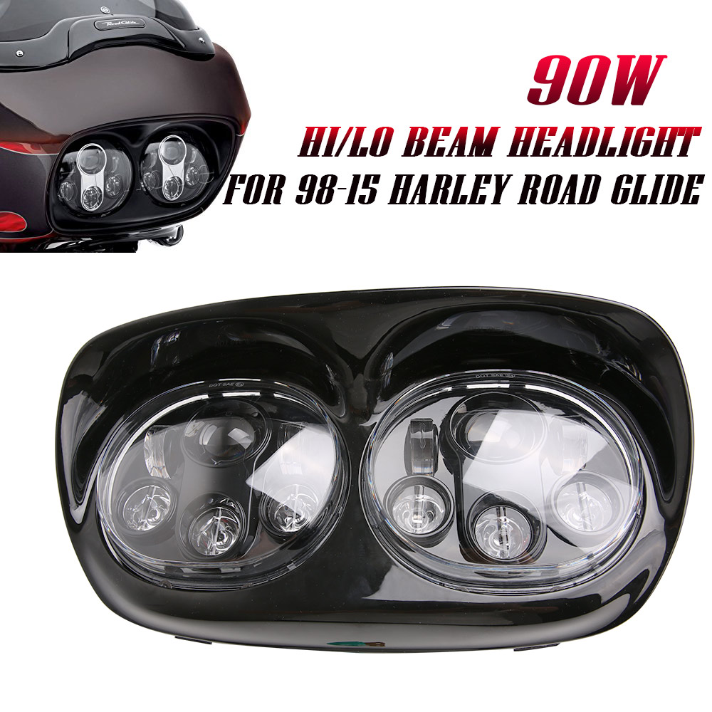 2017 Harley's lights Road glide LED Headlight Harley accessories 2inl headlight High/Low Double Headlight For Harley Davidson