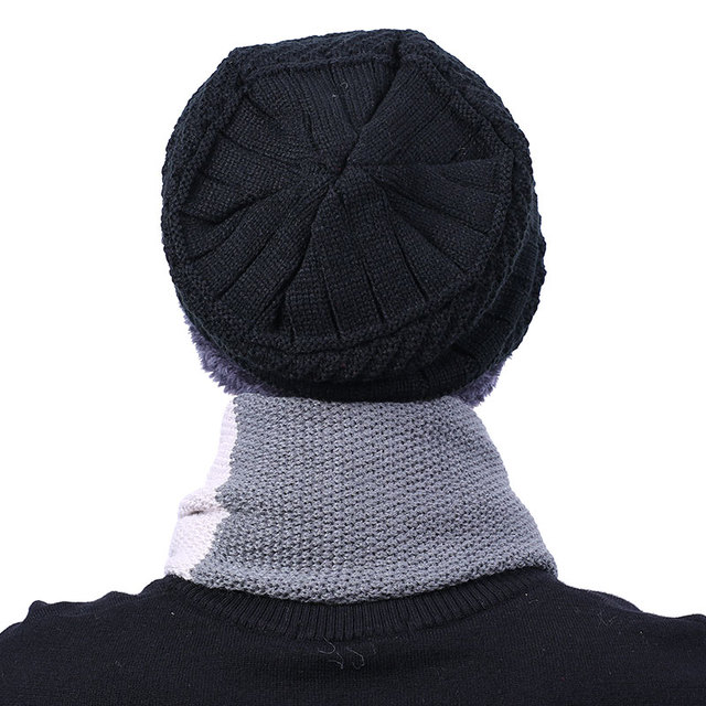 2017 New Knitted Winter Hat Scarf Beanies Knit Men's Winter Hats Caps Skullies Bonnet For Men Women Beanie Casual Neck Warmer