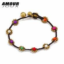 Женский яркий браслет с цветами