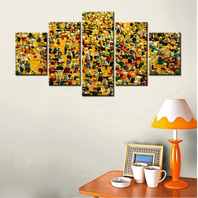 5 Panels Lego Characters Canvas Print Painting Children Baby's Room ...