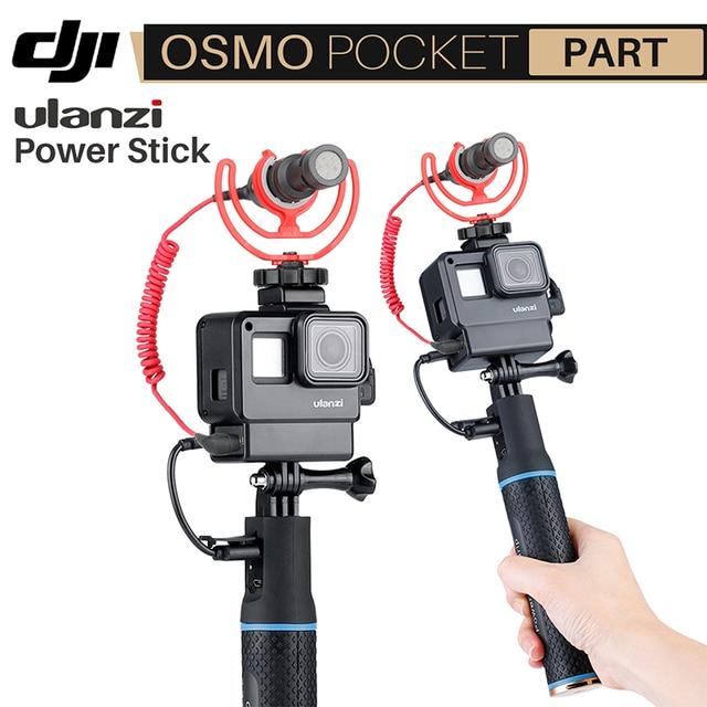 5200 mAh 用 Osmo ポケット移動プロここ 7 6 5 EKEN Sjam 電源スティック銀行アクセサリーアクションカメラ ulanzi と V2 ケース