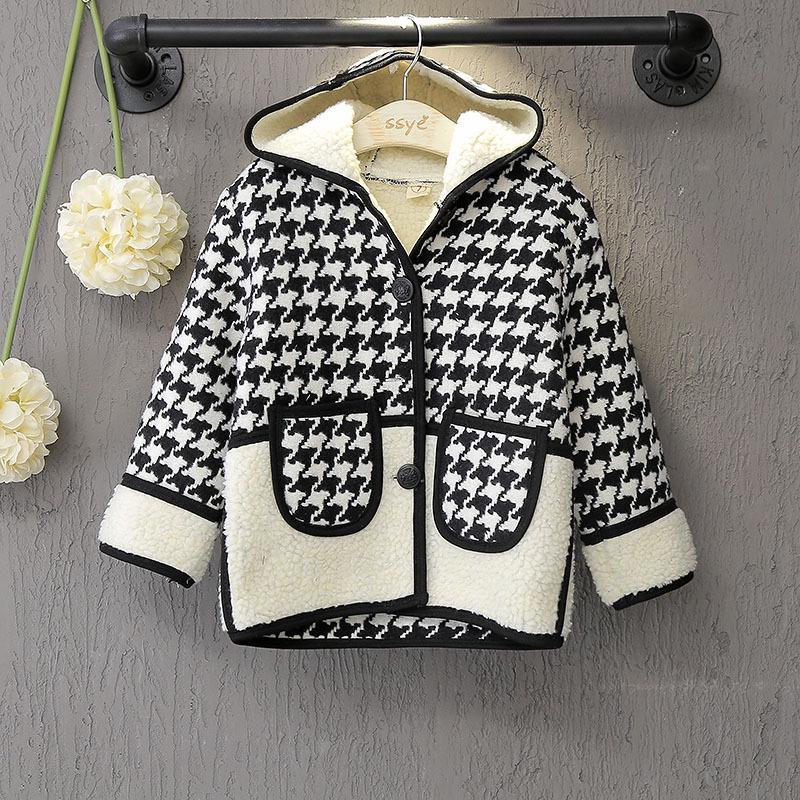 2 3 4 5 6 7 8 Years Girls Autumn Winter Coat Fashion Windbreaker Childrens Jacket for Girls 2017 New Style Kids Outerwear