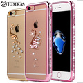 Caso strass para iphone 7/7 plus silicone glitter diamante tampa transparente para o iphone 7 plus casos saco telefone coque luxo