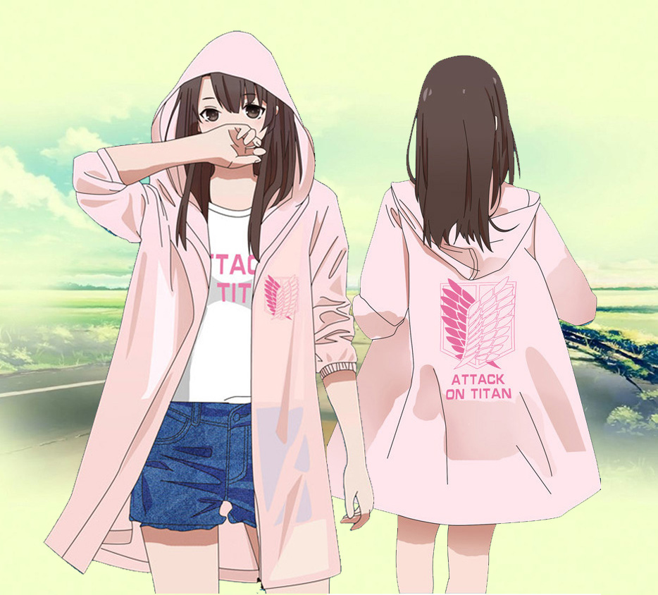 Anime Attack on Titan Summer Sun Protective Sunproof Trench Fashion Women Sun protection Cloak Mikasa Ackerman Cosplay Costume