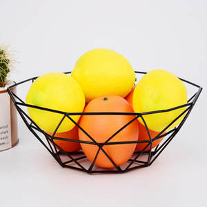 Geometric Metal Bowl Kitchen Storage Display Fruit Trays