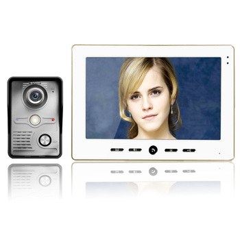 """FREE SHIPPING 10"""" Inch Color LCD Monitor Video Door Phone Doorbell Intercom Kit Security Camera System"""