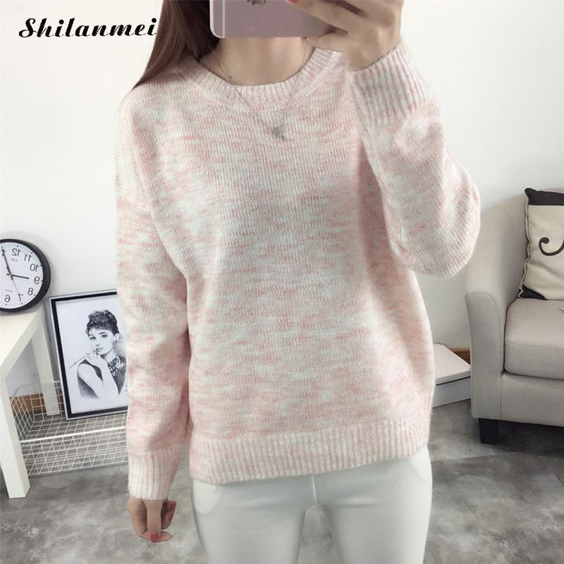 Autumn Winter Women Sweaters and Pullovers Korean Style Long Sleeve Thicken Casual Loose Sweater Solid Knit Jumpers Sweter Mujer