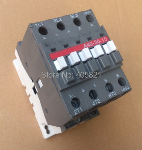 A40-30-10/A40-30-01 AC contactor 3Pole magnetic contactor a75 30 ac contactor 3pole1no 1nc magnetic contactor