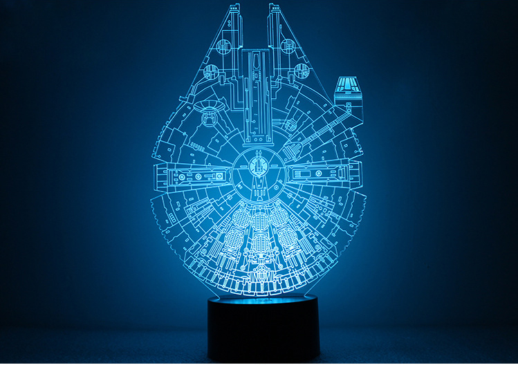 1pcs/set 3D Novelty Light Star Wars Death Star 7 Colors Changing LED Lamp NEW Luminaria 3D Lights Action Figure Kids Gift Toys