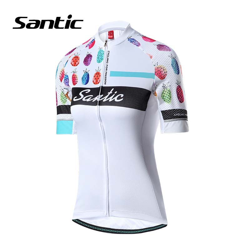 Santic 2018 Pro Cycling Jersey Women Short Sleeve Road Mountain Bike Jersey Breathable Bicycle Jersey Ciclismo MTB Top Shirts santic cycling clothing women short sleeve breathable cycling jersey sets padded road mountain bike shorts 2018 bicycle clothes