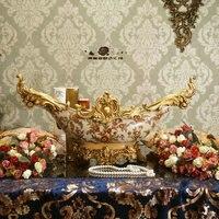 [] Freyja luxe Europese stijl van de oude paleis kazahana wastafel kom dual woonkamer decoratie housewarming geschenken