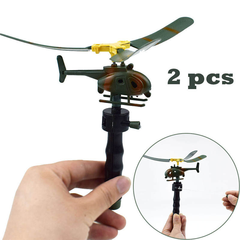 2pcs Funny Helicopter Kids Creative Outdoor Toy Drone Children's Day Gifts