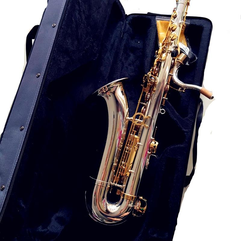 Tenor Saxophone Bb Sax Wind Instrument Silve & gold Surface Sax Western Instruments Tenor saxofone Musical Instruments saxophone soprano saxophone bb wind instrument sax western instruments black saxofone saxofon soprano musical instruments black saxofon