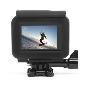 Image 5 - לירות מגן מסגרת מקרה הר עבור GoPro גיבור 7 6 5 שחור מצלמה מגן גבול עבור ללכת פרו 6 5 פעולה מצלמה אבזר