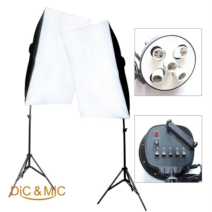 Studio Lighting Cheap: Photography Lighting Softbox Kit / Lamp Holder Set