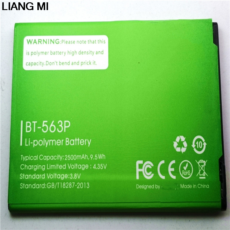 New High Quality BT-563P 2500mAh cell phone <font><b>battery</b></font> For Leagoo <font><b>M5</b></font> PLUS M5PLUS phone with phone stander for gift