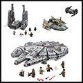 Em Stock-Frete grátis LEPIN Star Wars 05006 05007 05030 Millennium Falcon marvel Figura Brinquedos blocos de construção Crianças Brinquedo presente