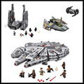 In-Stock Free shipping LEPIN Star Wars 05006 05007 05030 Millennium Falcon Figure Toys building blocks marvel Kids Toy Gift