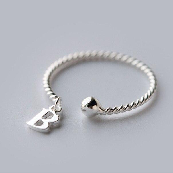 Aliexpress.: Buy Slim Initial Letter B 925 sterling silver