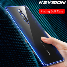 KEYSION Phone Case For Xiaomi Redmi K20 Mi 9T Pro Mi 9 SE Ultra Thin Clear Plating TPU Back Cover For Redmi K20 Pro Note 7 Pro new for 10 1 woxter nimbus 1000 tablet touch screen panel digitizer glass sensor replacement free shipping