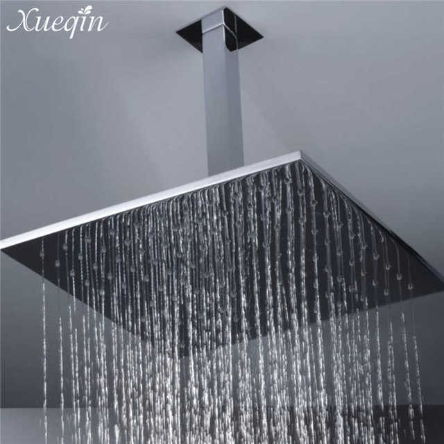 Xueqin 34cm Bathroom Square Wall Mounted Shower Extension Arm For Rain Shower  Head Extension Pipe Brass