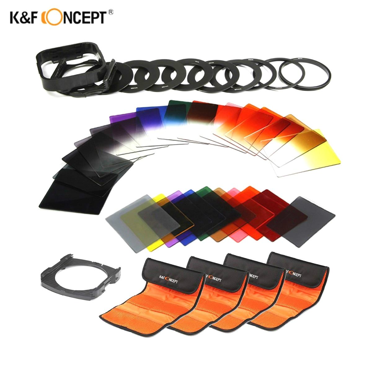 K&F CONCEPT 40 In1 ND2 ND4 Fader Gradual Gray Color Lens Filter Set For Canon 6d 550d 600d 700d Nikon D3100 D3300 SONY Camera литой диск replica legeartis concept ns512 6 5x16 5x114 3 et40 d66 1 bkf