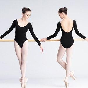 Image 4 - Women Ballet Leotard Adult Ballet Dancewear Short Sleeve Bodysuit Cotton Spandex Dance Clothes For Ballerina