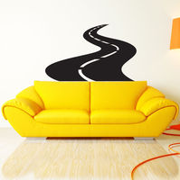 Road Street Highway Wall Sticker Vinyl Wall Art Wall Poster Wall Decal Home Decor