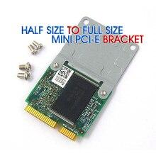 50 sztuk Mini PCI E na pół, aby w pełnym rozmiarze karta rozszerzeń bezprzewodowy adapter wifi uchwyt montażowy z 4 śruby darmowa wysyłka