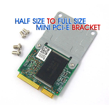 50pcs Mini PCI E Half to Full Size Extension Card Wireless WIFI Adapter Mounting Bracket With 4 Screws free shipping
