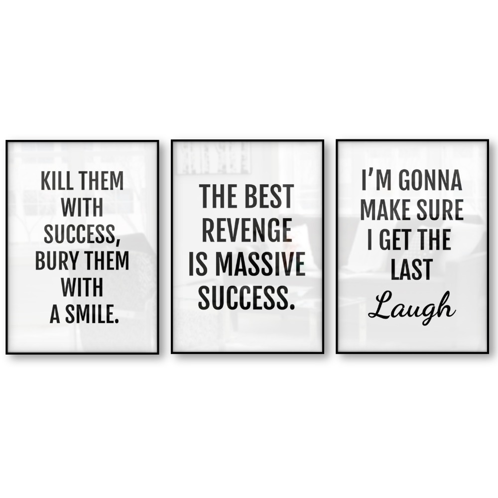 Revenge Success Quotes Poster Canvas Art Print Posters And Prints