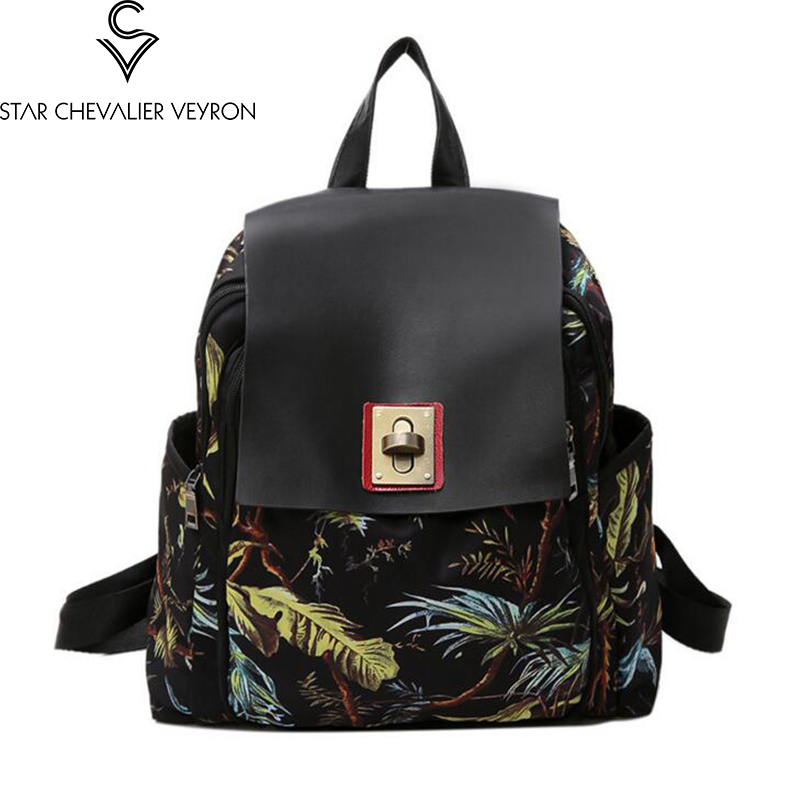 2017 2 new colors high quality fashion printing women backpack women shoulder bags famale backpack female