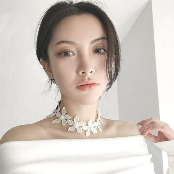 vintage statement white lace choker necklace women sweet bijoux super beautiful collier  ...