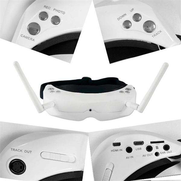 SKYZONE 3D FPV 5.8G 40CH Diversity Receiver Wireless Head Tracing GOGGLE / Video Glasses SKY02S V+ W/ HDMI in & Auto scan - 4