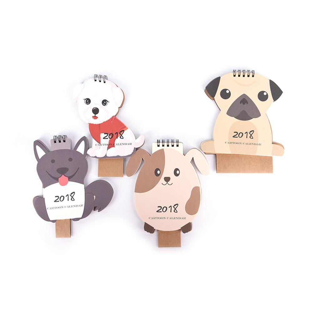 1 Pcs Lovely Dog Calendar 2018 Calendars Desk Calendar Office School Stationery Supplies 2018 Calendar Calendar