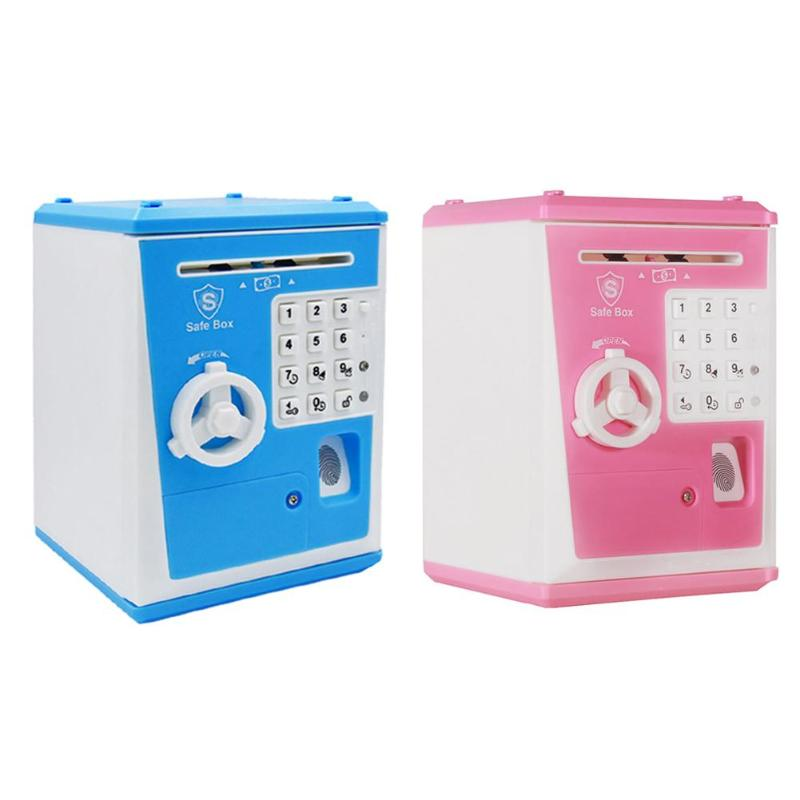 Children Money Banking Toys Pretend Play Money Boxes Electronic Piggy Bank ATM Password Cash Coins Deposit Toys Gift