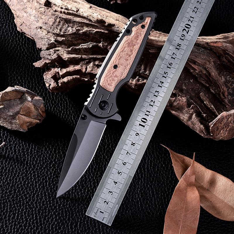 X38 Navajas New Design Wood Handle Cold Steel Survival font b Tactical b font Folding font