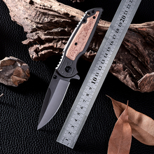 X38 Navajas New Design Wood Handle Cold Steel Survival Tactical Folding Knife D2 Cs Go Hunting Combat Knives Facas Taticas