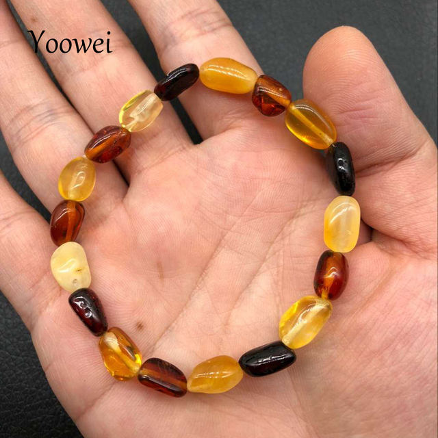 Yoowei Wholesale Price 100% Real Amber Bracelet for Women Genuine Original Beads Natural Stones Baltic Amber Jewelry Wholesale