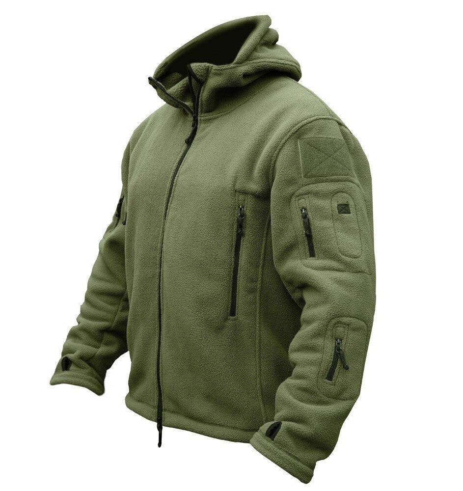 HTB1X90tKA9WBuNjSspeq6yz5VXah Military Man Fleece Tactical Softshell Jacket Polartec Thermal Polar Hooded Outerwear Coat Army Clothes