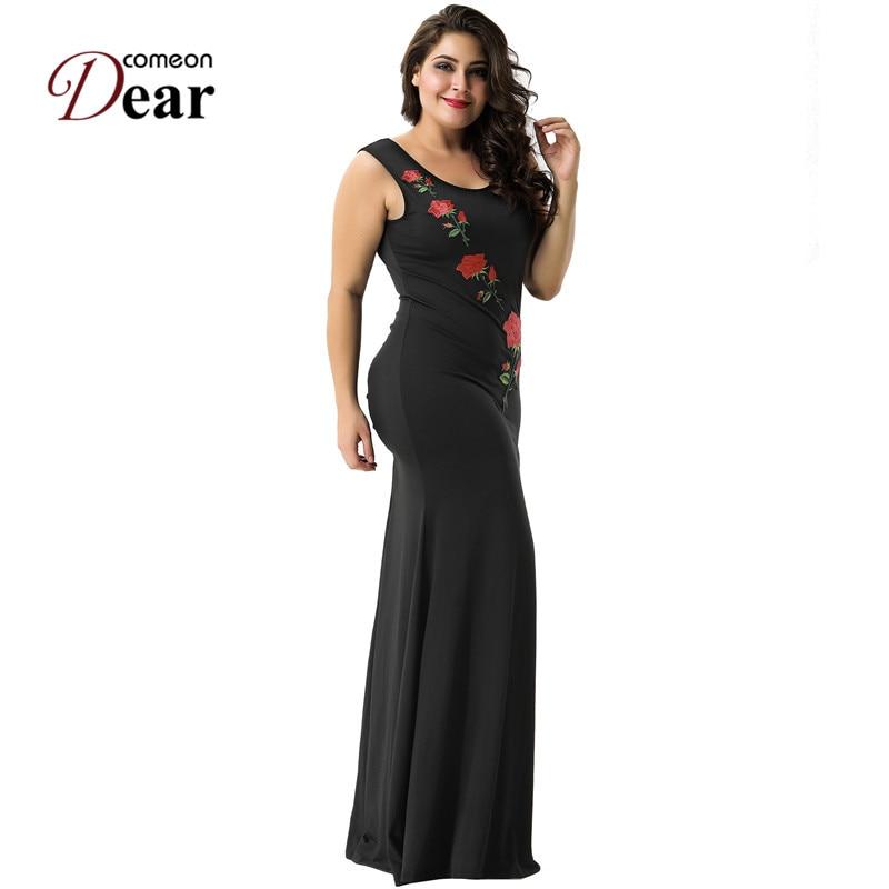 Comeondear VA1066 Kvinnors svarta partiklänningar Casual o-ringad - Damkläder - Foto 2