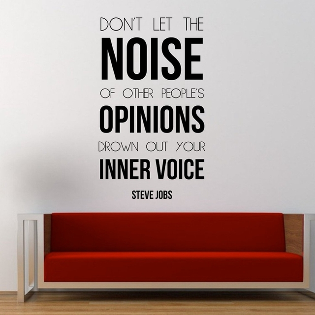 New quote wall decal sticker dont let the noise of people opinions dpown out
