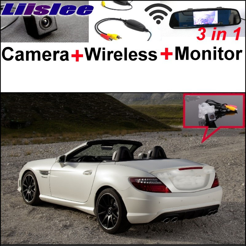 Liislee For Mercedes Benz SLK MB R172 3in1 Special WiFi Camera + Wireless Receiver + Mirror Screen Rear View Back Parking System liislee for mercedes benz cl mb w216 cls w218 special camera wireless receiver mirror screen 3in1 backup parking system