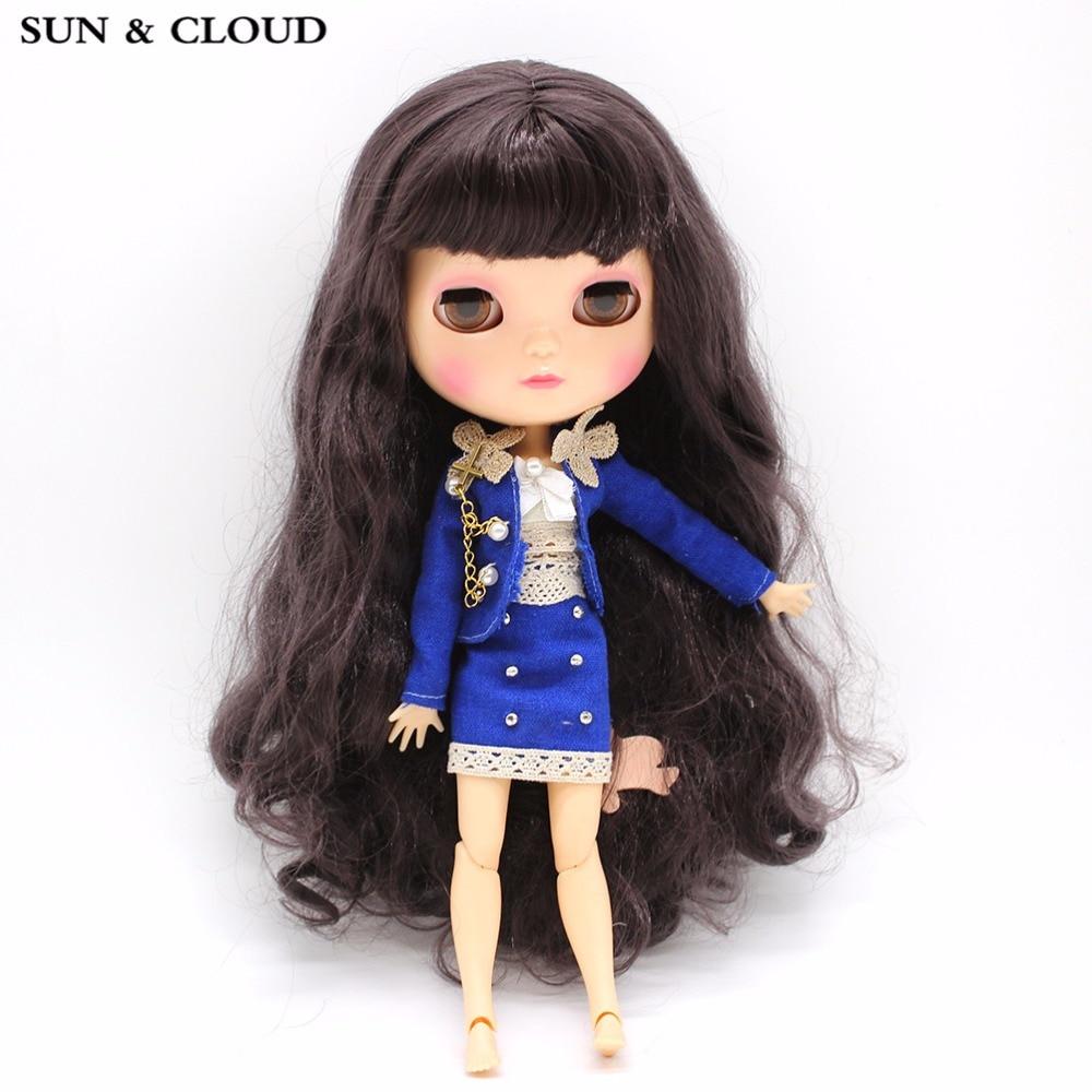 SUN & CLOUD Blue Suit Set Uniform Skirt Suit Clothes con sujetador - Muñecas y accesorios - foto 1