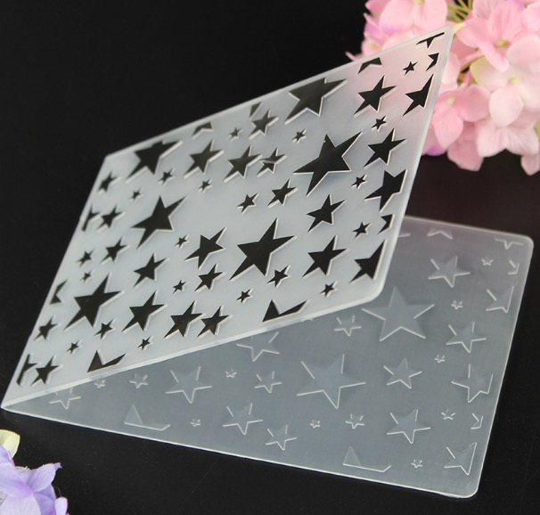 1pc plastic small large stars embossing folder diy scrapbooking