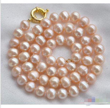 FREE SHIPPING>>>@ P4072 18 9-10mm pink round freshwater cultured pearl necklace ^^^@^Noble style Natural Fine jewe hot newFREE SHIPPING>>>@ P4072 18 9-10mm pink round freshwater cultured pearl necklace ^^^@^Noble style Natural Fine jewe hot new