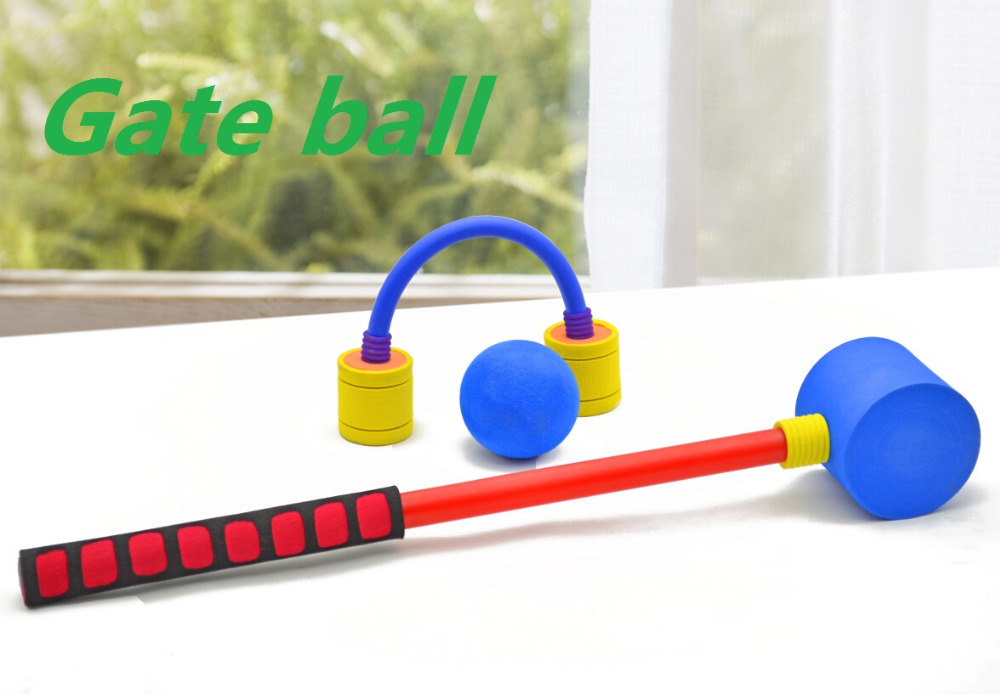 High quality Childrens Gate Ball NBR Material Croquet Set Outdoor Garden Game Beach Fun kidss Toy Gift for chirldrens
